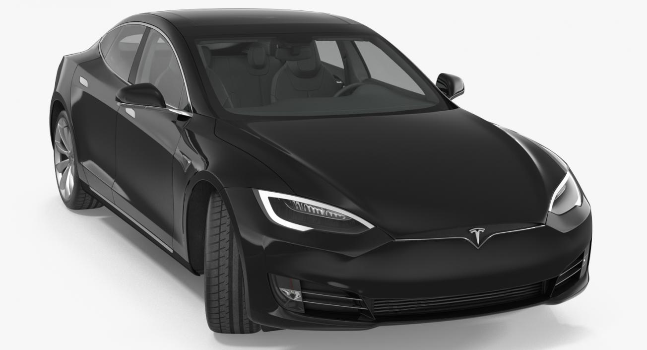 3D Tesla Model S P100D 2017 Rigged