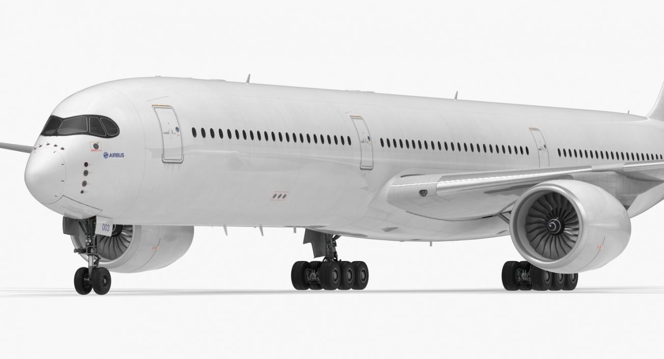 3D Airbus A350-1000 Generic Rigged