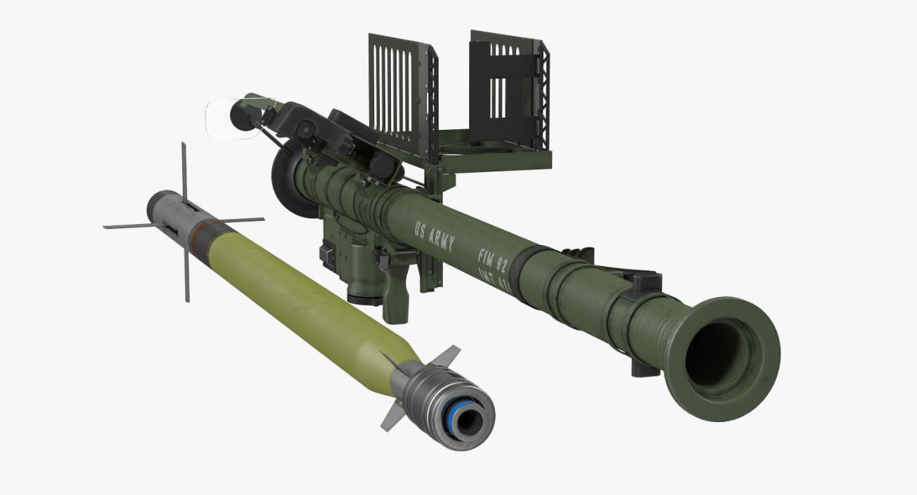 3D FIM-92 Stinger Set model