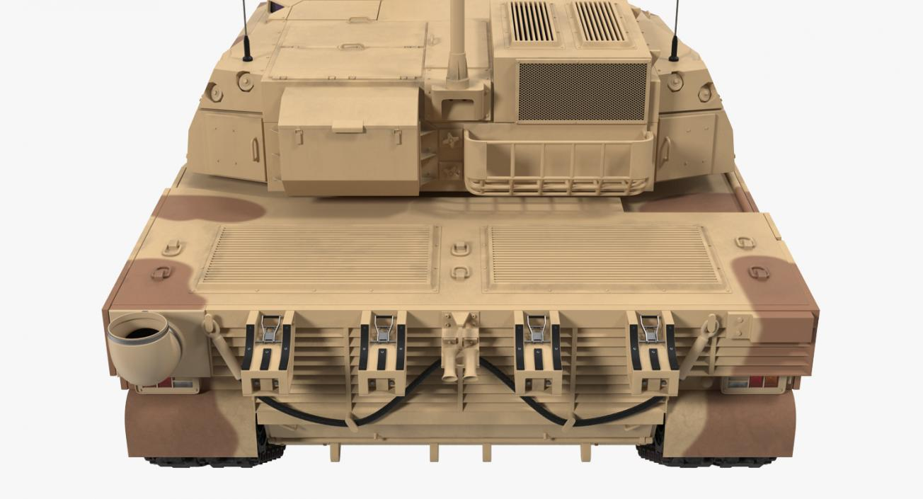 3D French Army Tank AMX-56 Leclerc Rigged model