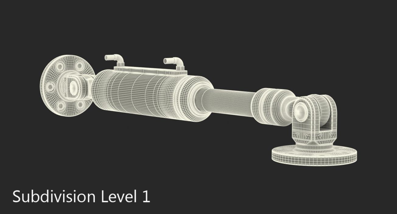 Anodized Hydraulic Cylinder 4 3D model