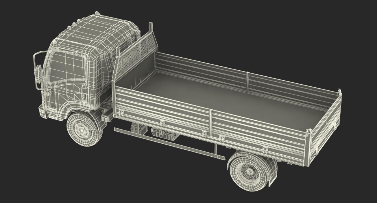 3D model Isuzu NPR Dropside 2018 Rigged