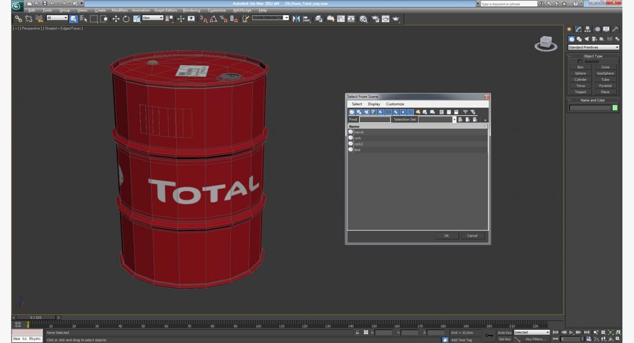 Oil Drum Total 3D model