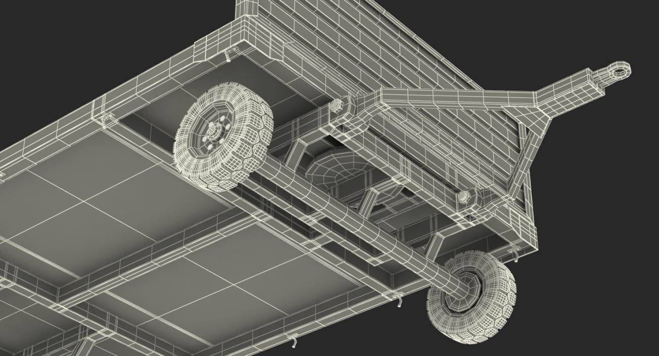 3D model Airport Luggage Trolley Rigged