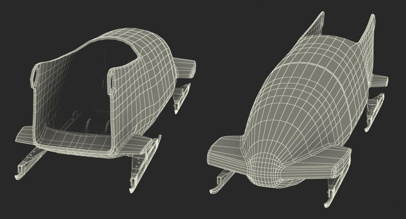 Bobsled Two Person Omega 3D model