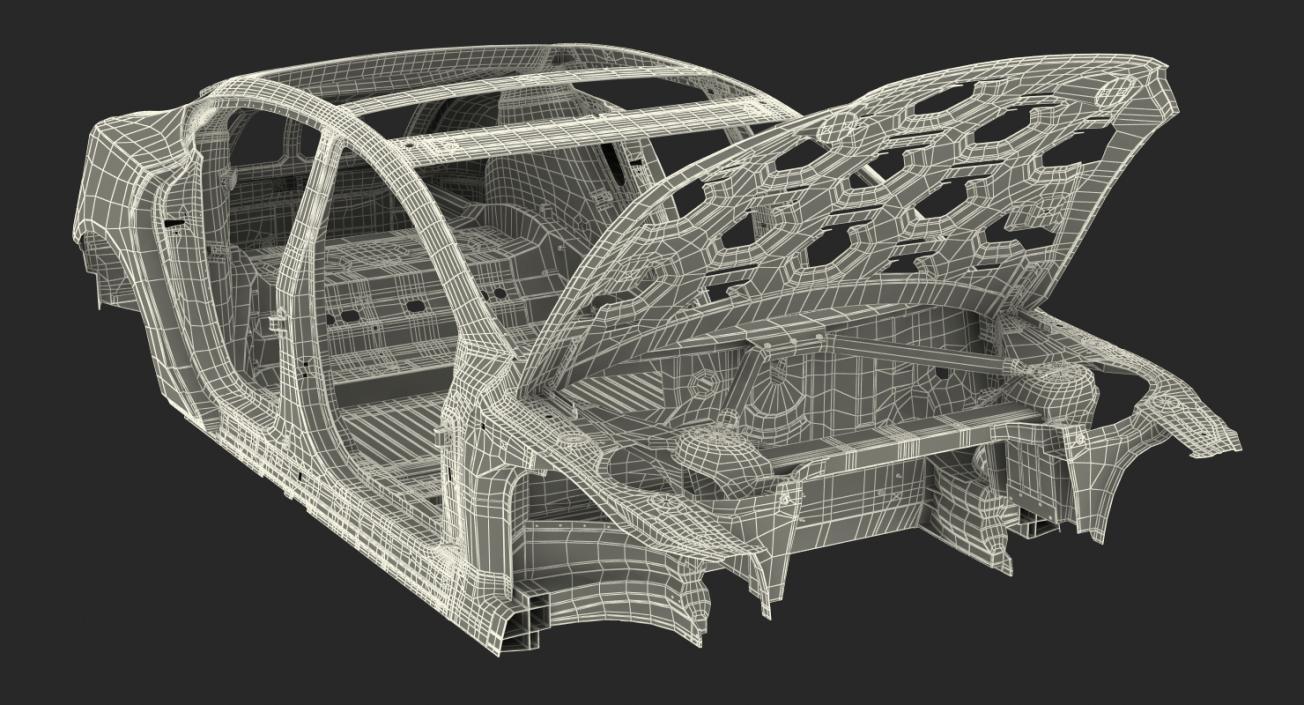 3D Tesla Model S Frame 2