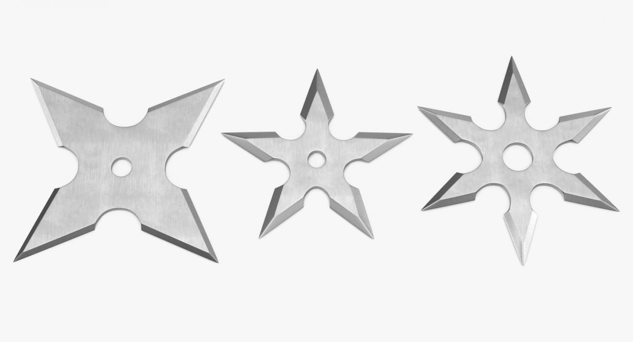 3D Shurikens Set model