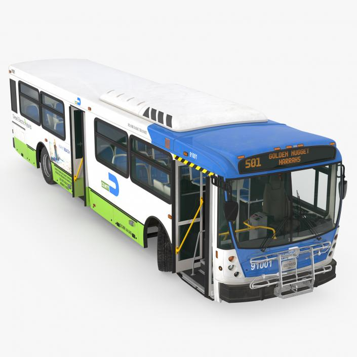 Bus Nabi Model 416 Miami Dade Transit Rigged 3D model | 3D Molier