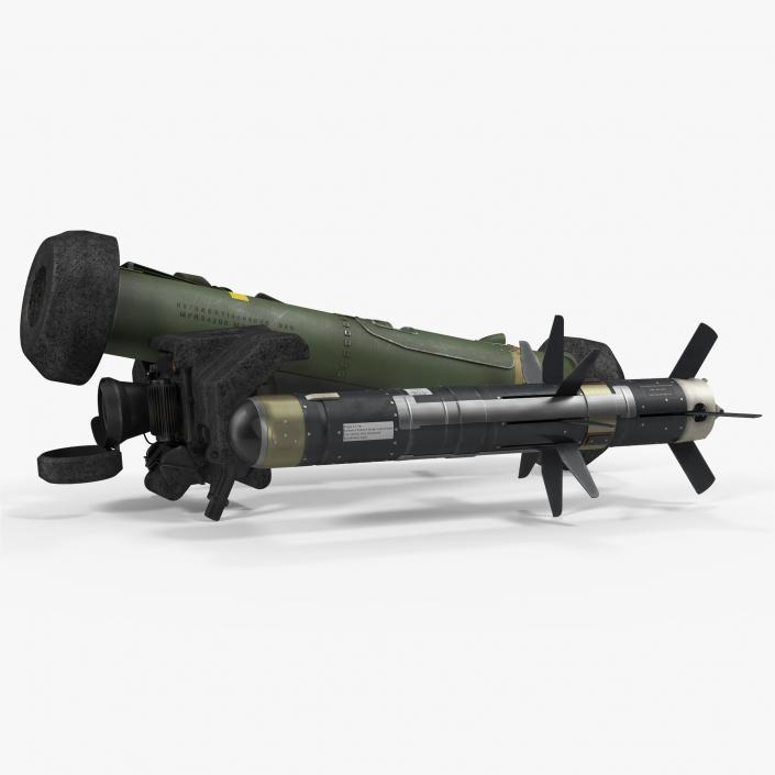 Anti Tank Missile FGM-148 Javelin Set 3D