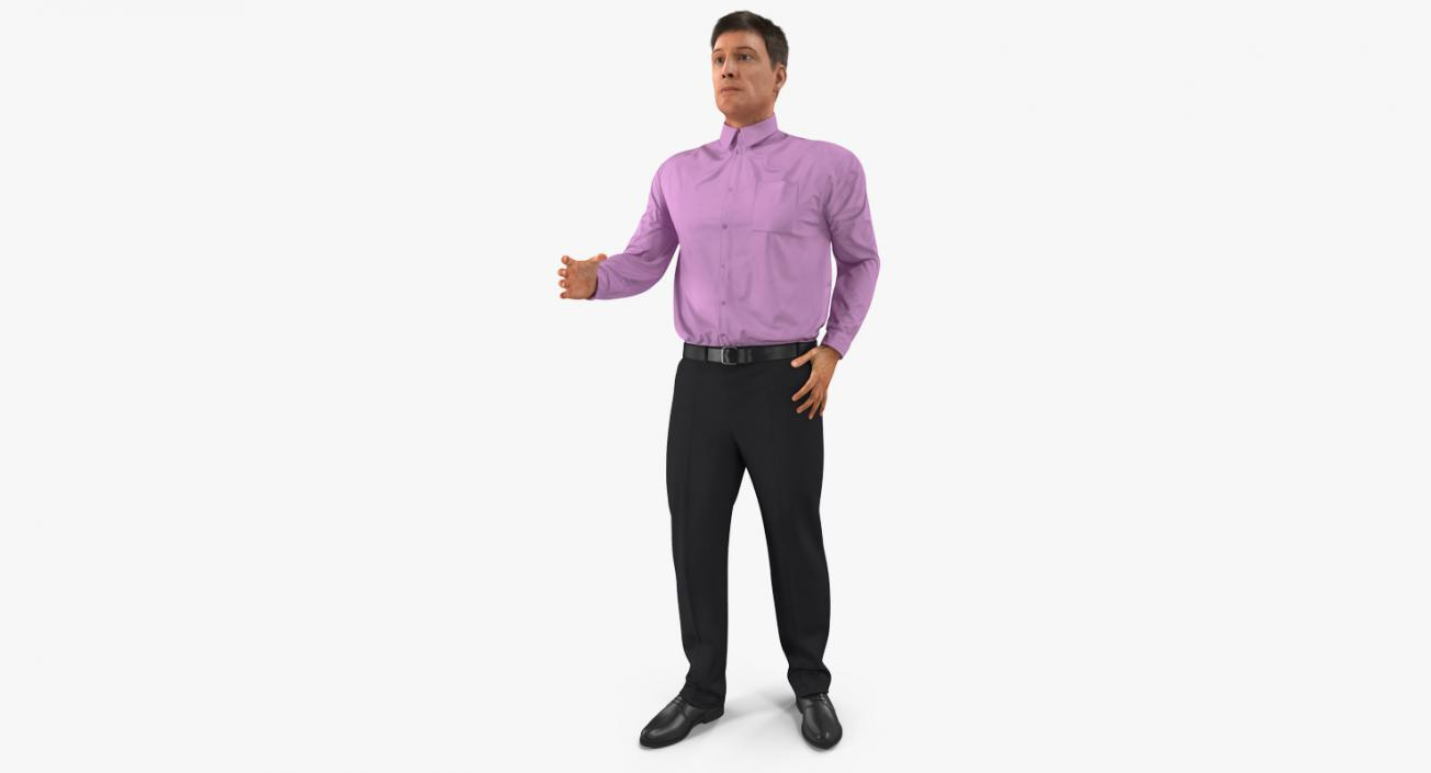 2c072f34d0a Men Business Casual Dress Rigged 3D