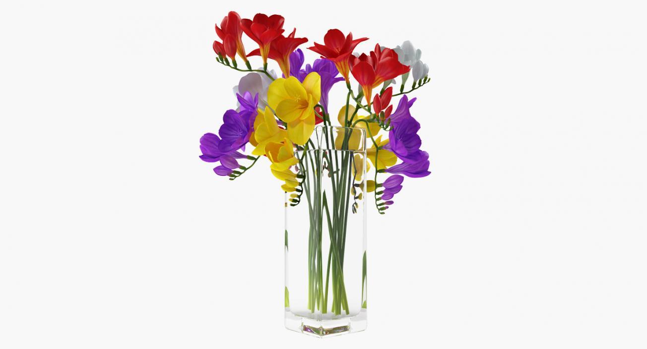 3d freesia flowers bouquet in vase 3d molier international 3d freesia flowers bouquet in vase izmirmasajfo