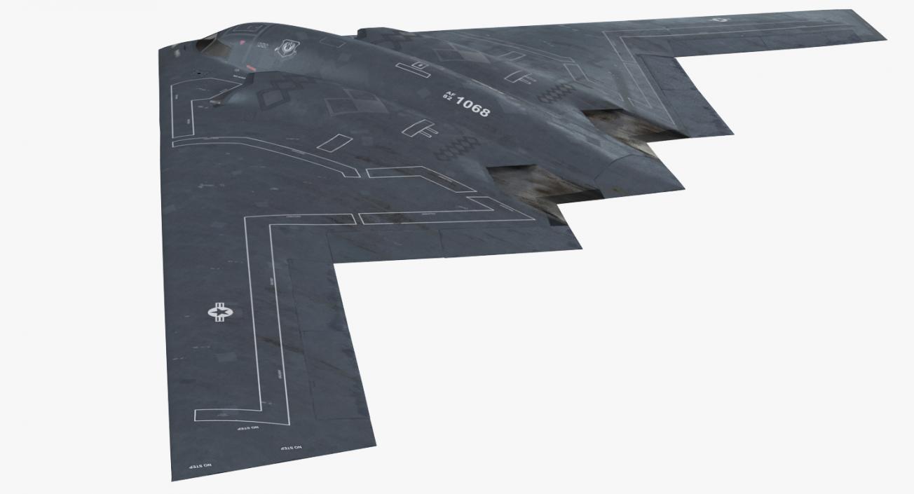Stealth Bomber B-2 Spirit Rigged 3D
