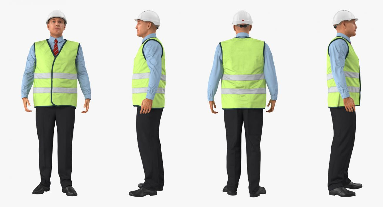 Port Engineer Standing Pose 3D