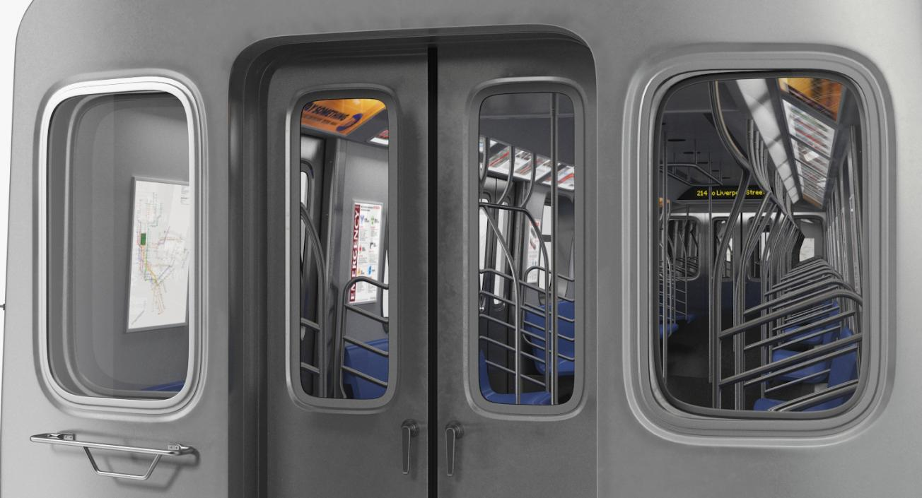 R160 New York City Subway Car 3D model | 3D Molier International