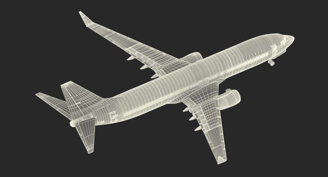 3D Boeing 737-800 with Interior Delta Air Lines Rigged