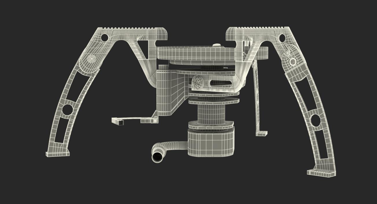 Folding Portable Camping Gas Stove 3D model