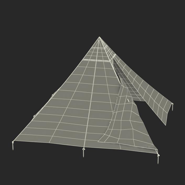 Floorless Camping Tent Open 3D
