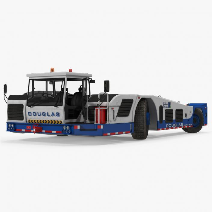 3D Aircraft Towing Tractor Douglas TBL 600 Rigged