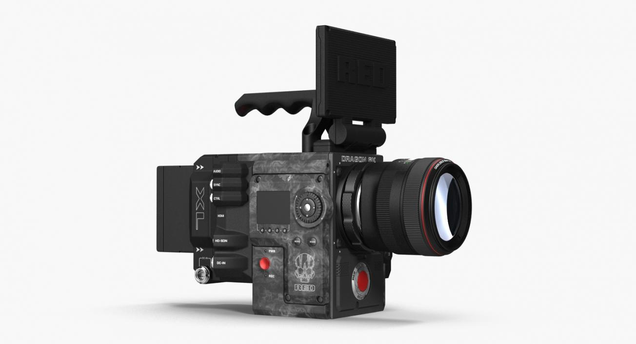 3D Movie Camera Red Weapon Dragon 6k model