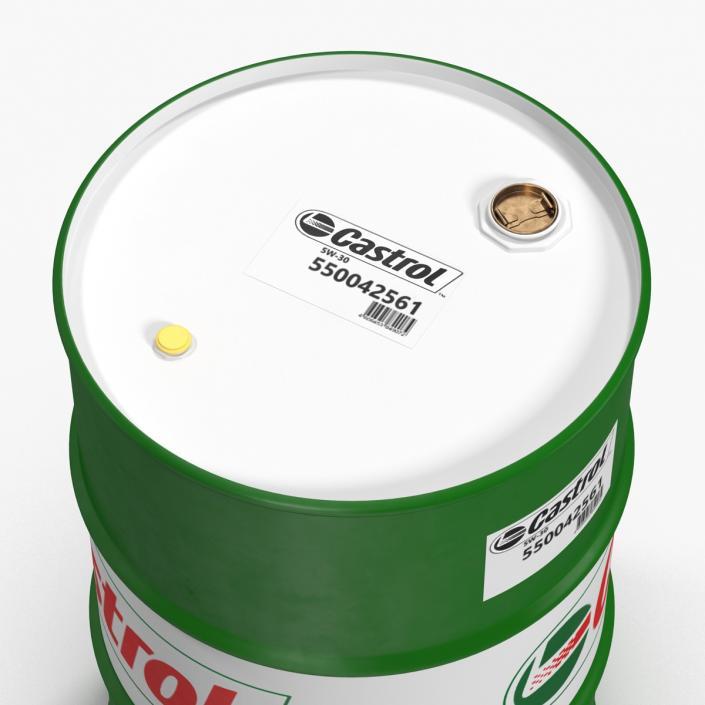 Steel Barrel Drum Oil Castrol 3D model