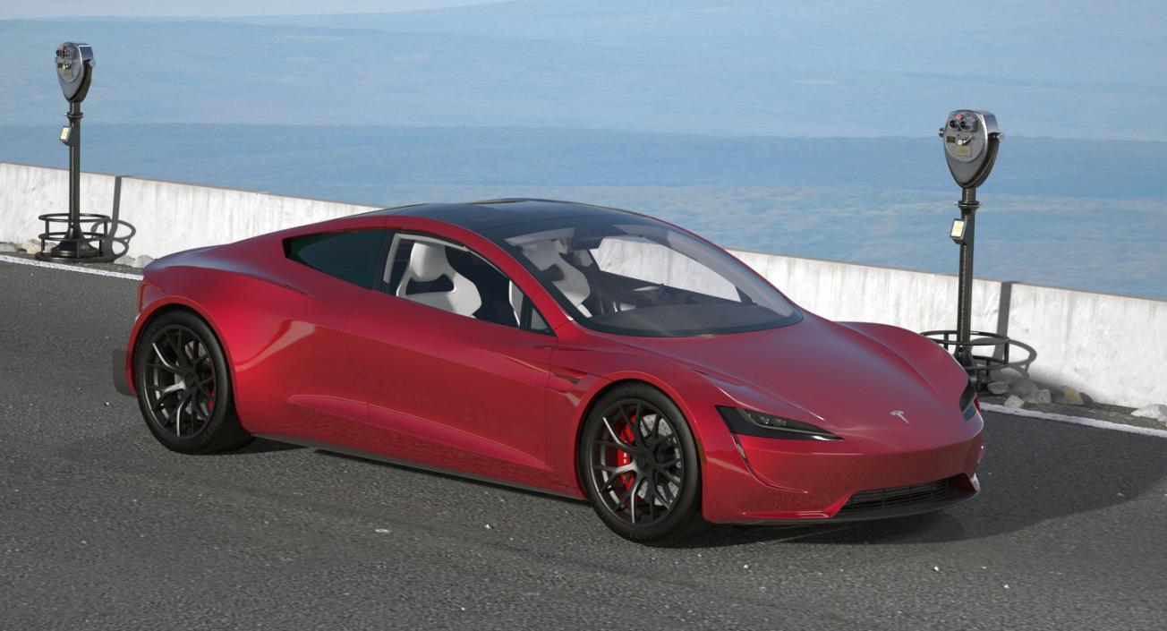 Tesla Roadster 3D model | 3D Molier International