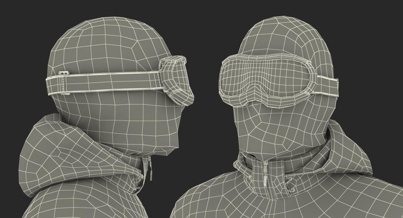 3D model Rock Climber Winter Hiking Gear Standing Pose | 3D Molier