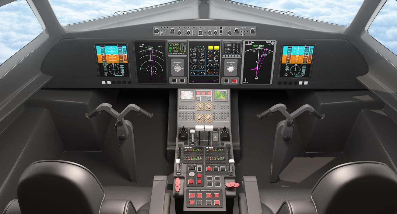 Airbus A321 Lufthansa With Interior Rigged 3d 3d Molier International