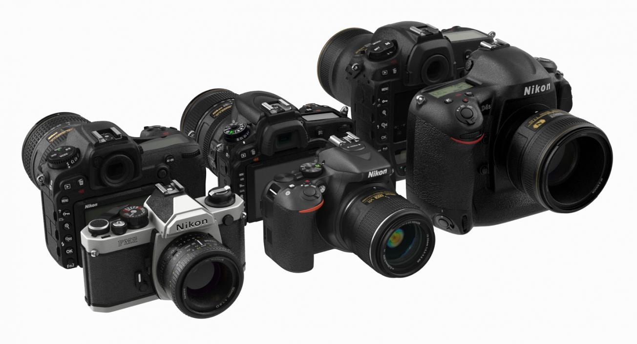 Nikon Cameras Collection 3D model