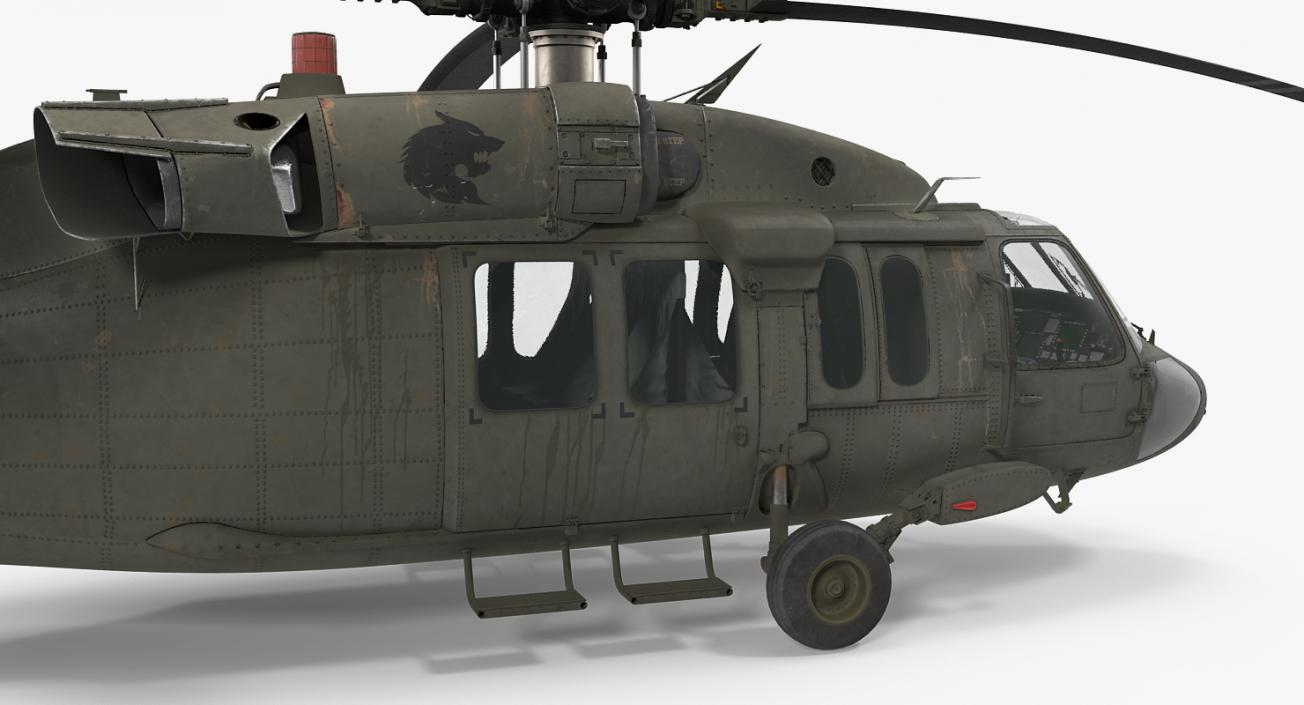 3D Sikorsky UH-60 Black Hawk US Military Utility Helicopter