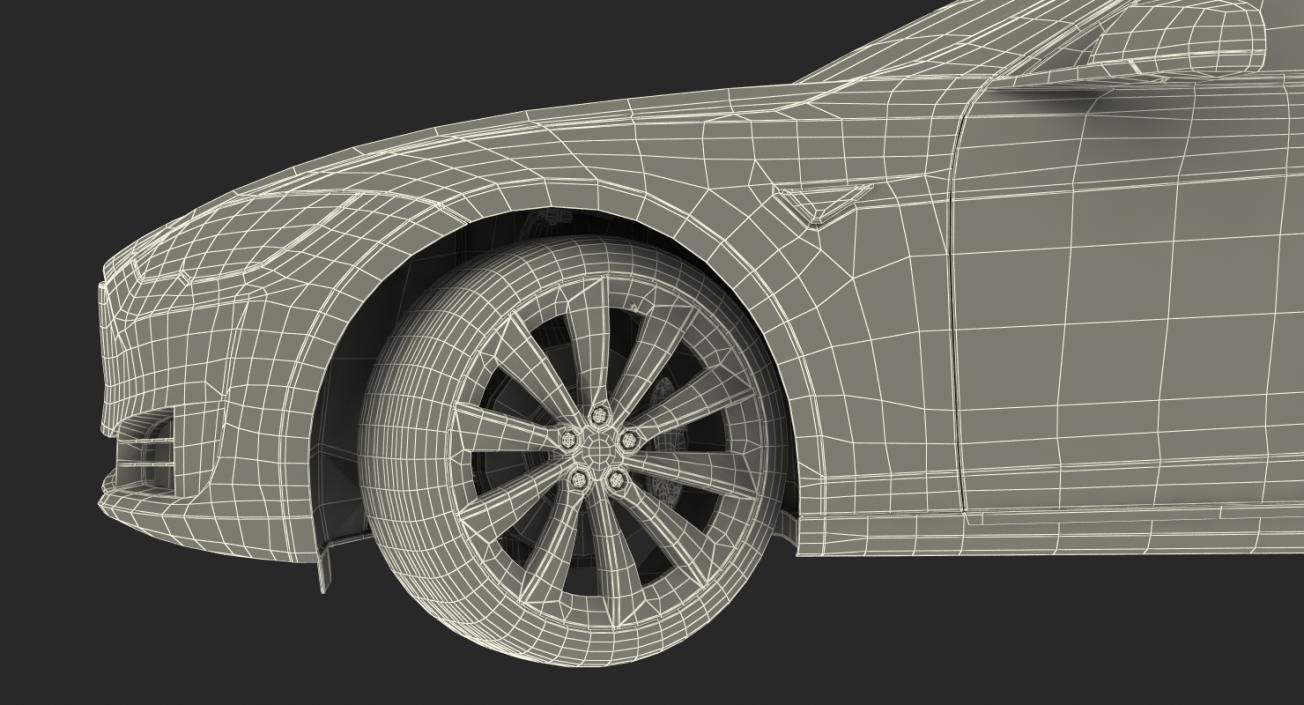 Tesla Model S P100D 2017 3D model