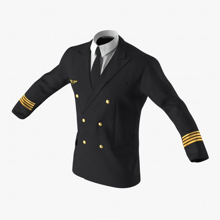 3D model Airline Pilot Jacket