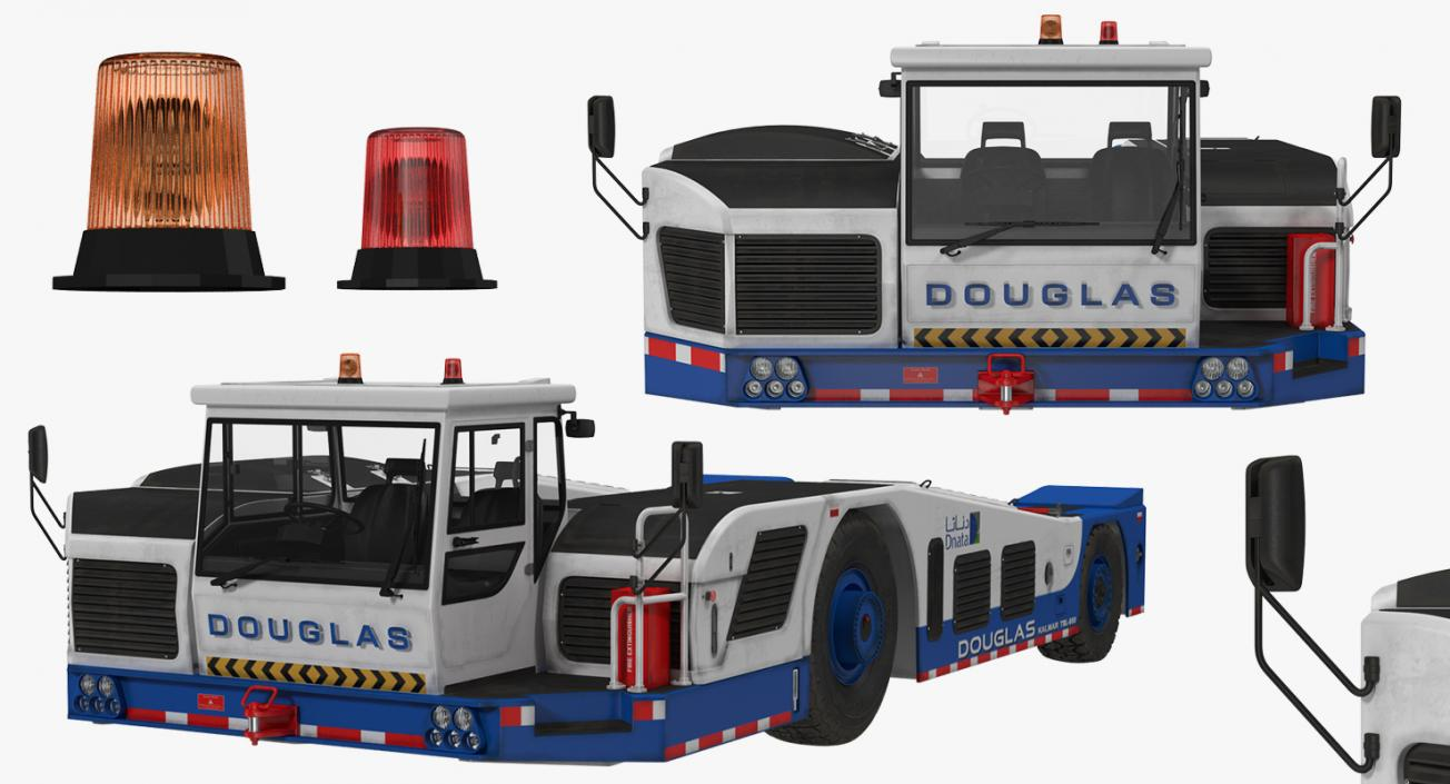 Aircraft Towing Tractor Douglas TBL 600 3D model