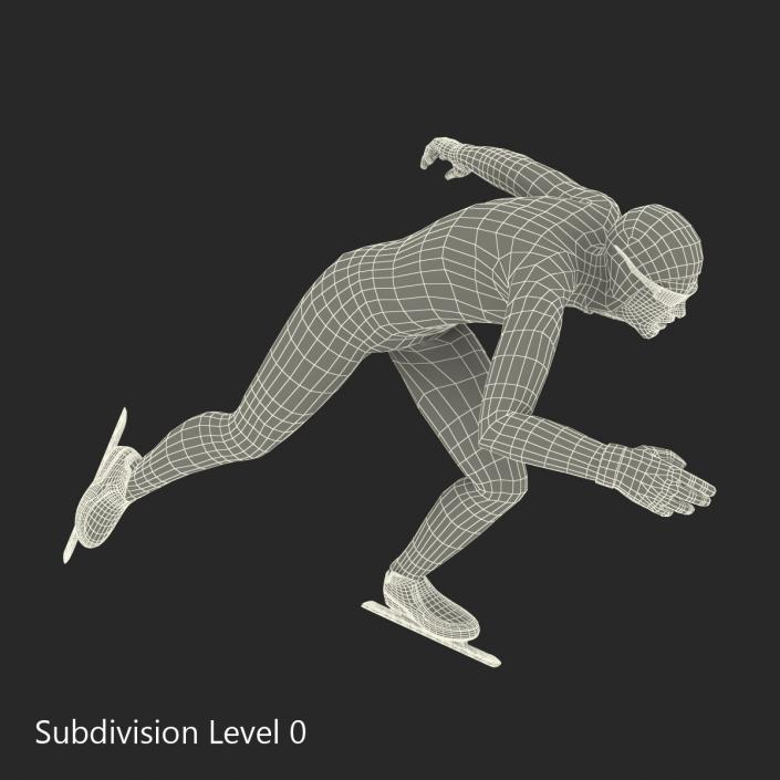 3D model Speed Skater Generic Runs