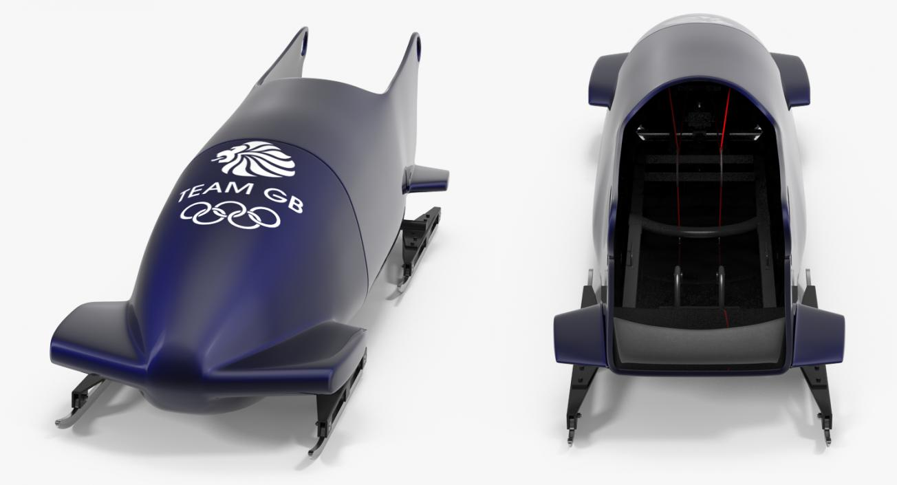 3D Bobsled Two Person Team GB