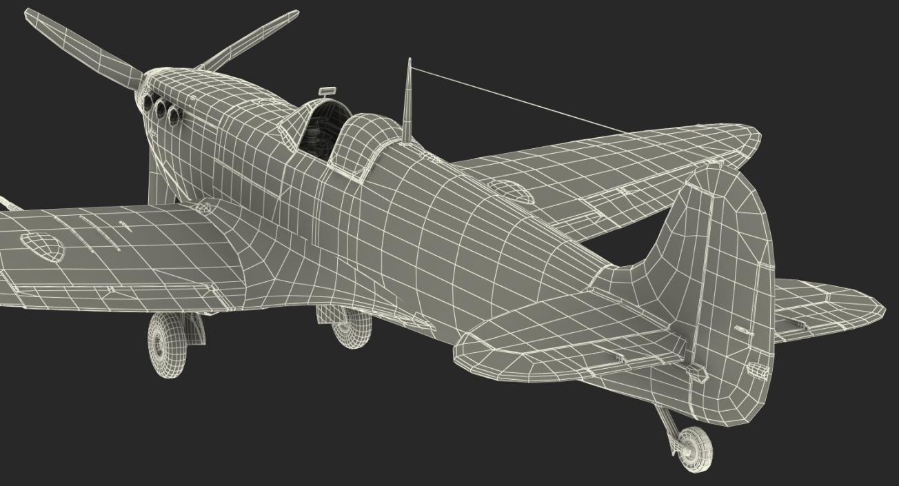 3D Royal Air Force Fighter Supermarine Spitfire LF Mk IX model
