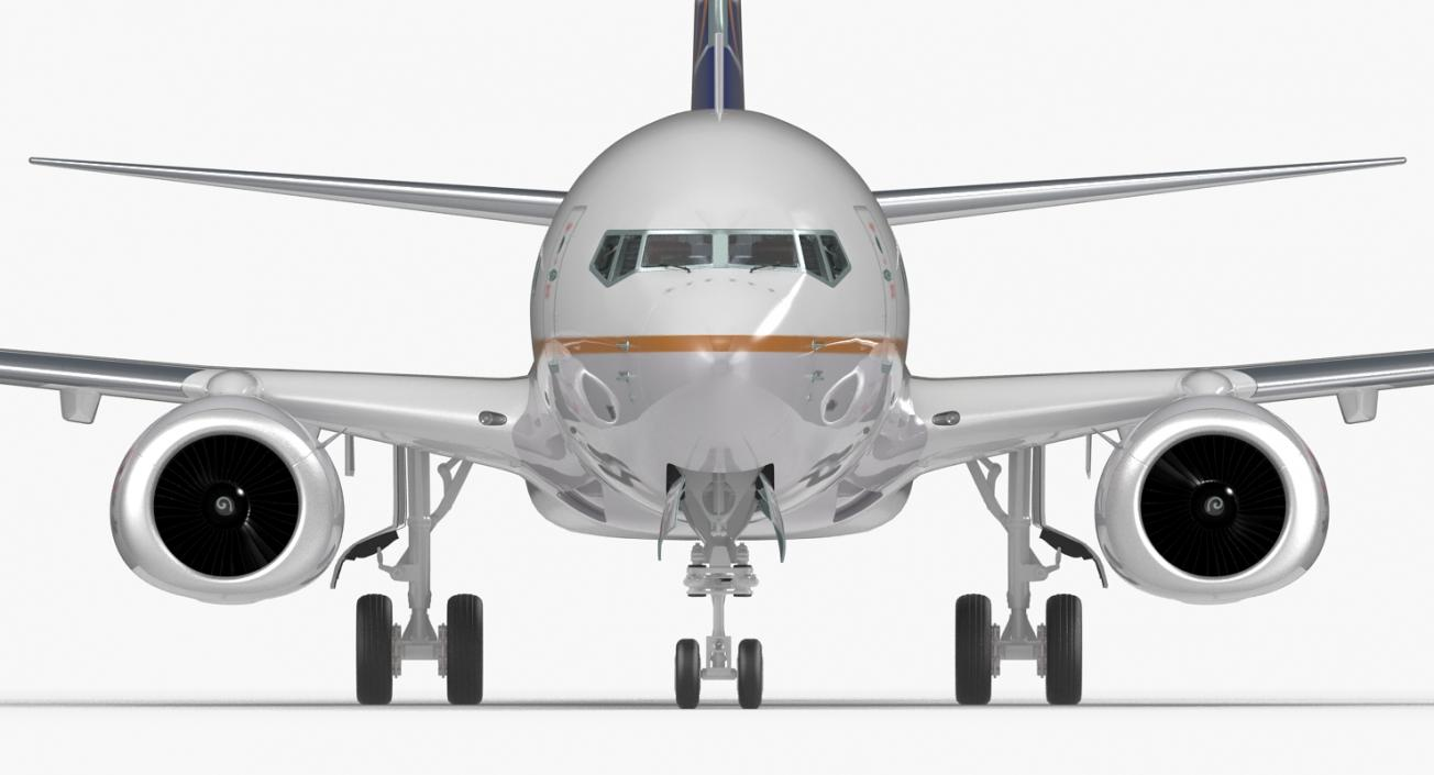 Boeing 737-700 with Interior United Airlines 3D model