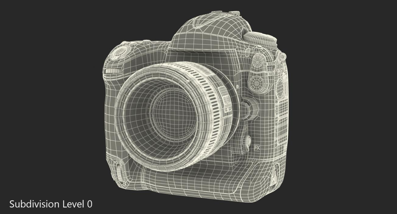 3D model Nikon D4