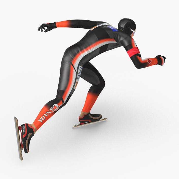 Speed Skater 2 Runs 3D model