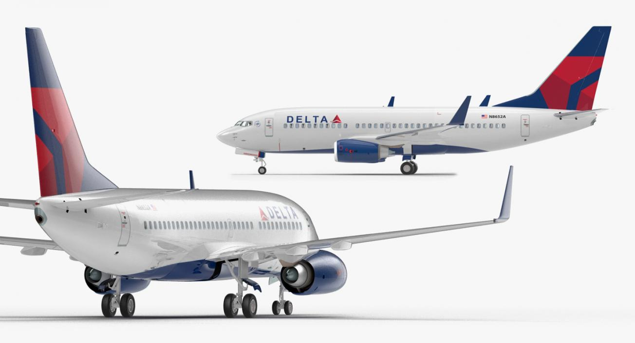 Boeing 737-700 with Interior Delta Air Lines 3D model