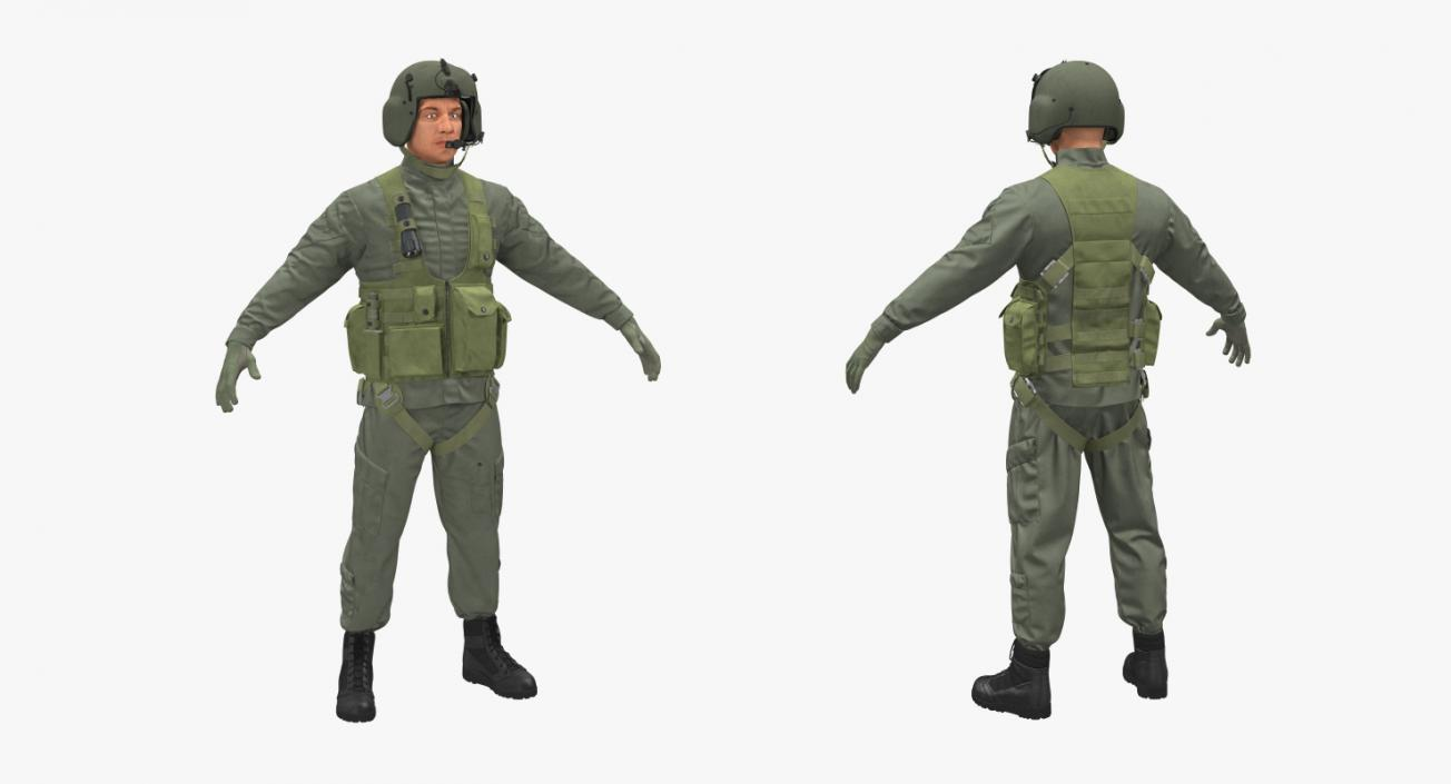 US Helicopter Pilot 3D model