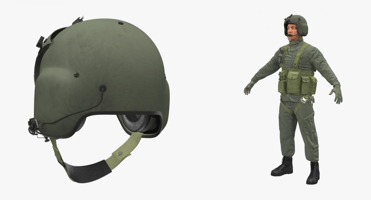 US Helicopter Pilot 3D model