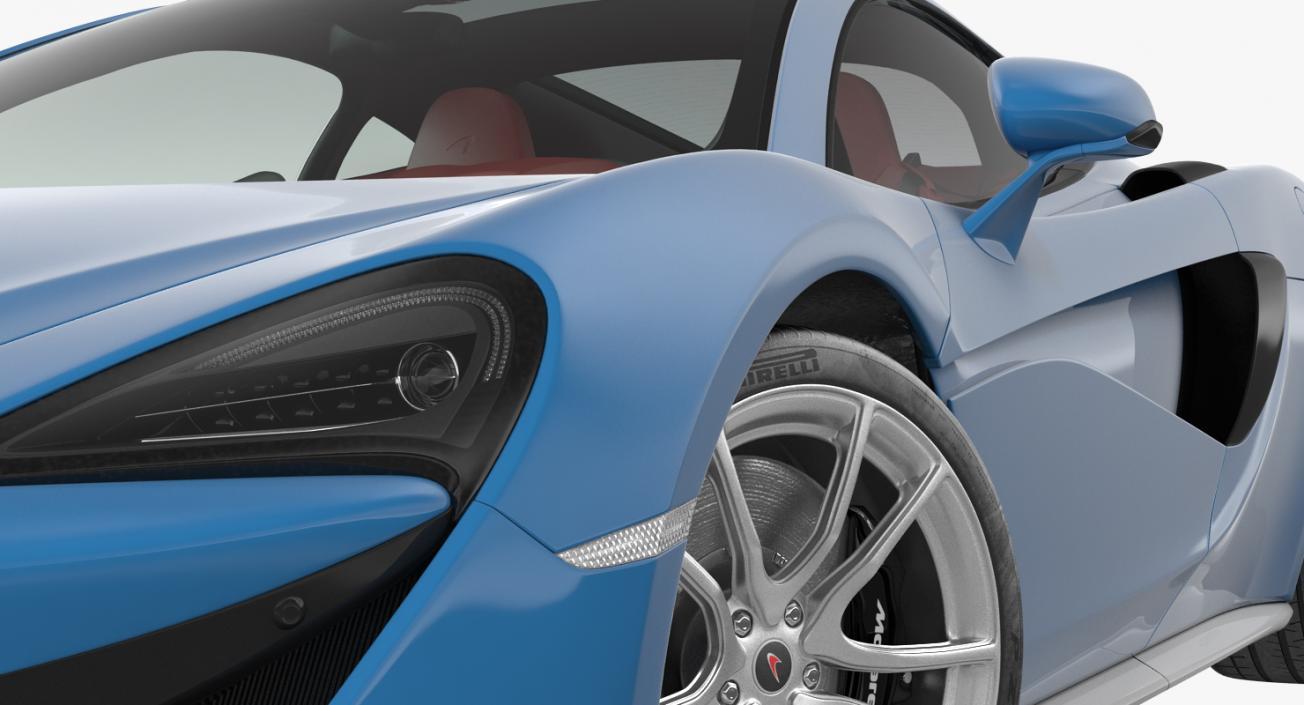 Supercar McLaren 570GT 2017 3D