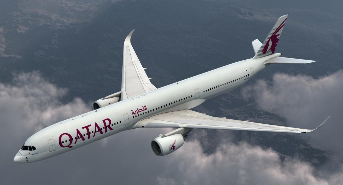 Airbus A350-1000 Qatar 3D