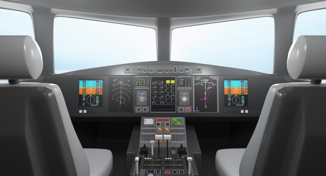3D Boeing 767-400 with Interior Generic | 3D Molier