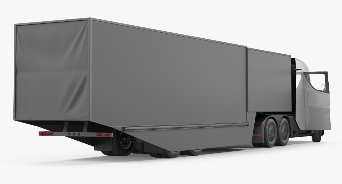 3D Electric Semi Truck Tesla with Trailer model | 3D ...