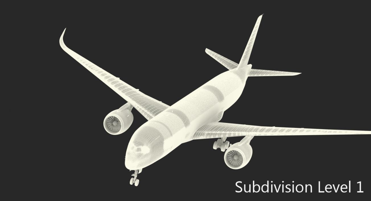 Airbus A350-900 Generic Rigged 3D Model 3D model