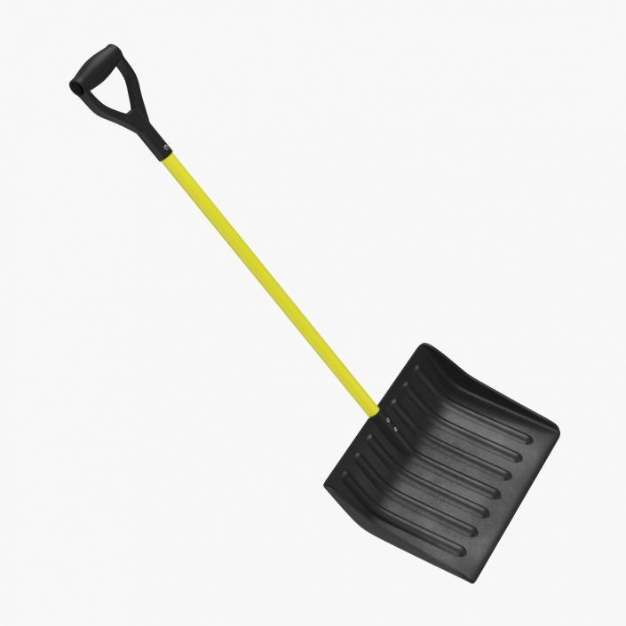 3D Yellow Snow Shovel model