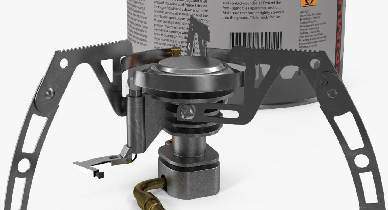 Camping Gas Stove 3 3D model
