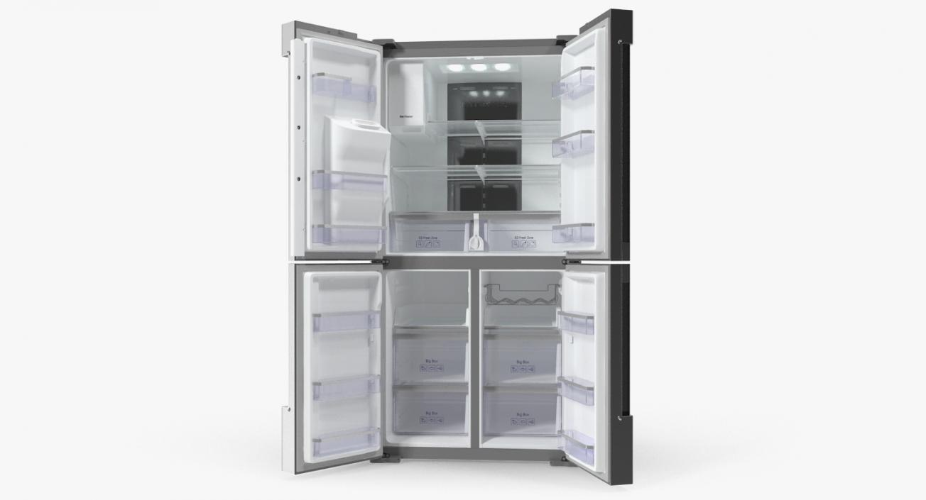 3D Family Hub French Door Smart Refrigerator
