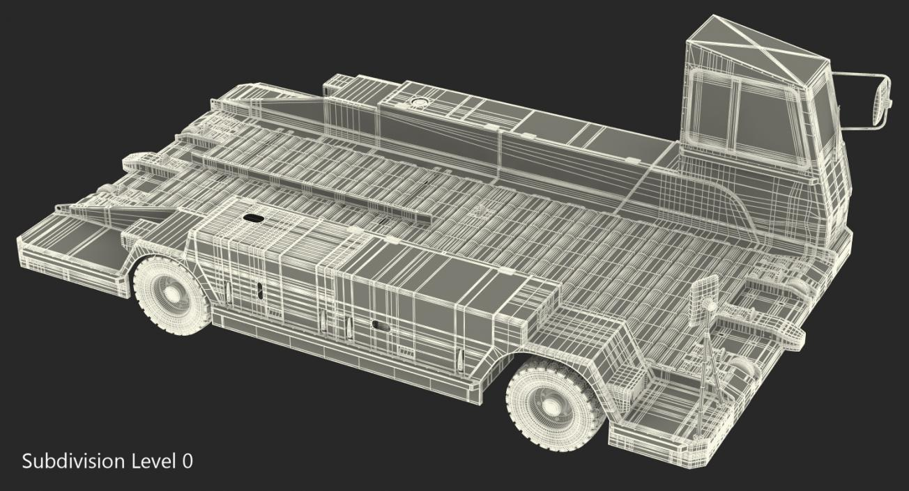 Airport Container Pallet Transporter Pulsar 7 Rigged 3D